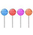 lollipops colored set hand drawn sketch vector image vector image