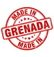 made in grenada red grunge round stamp vector image vector image