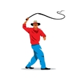 Man with whip Cartoon vector image