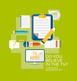 mass media broadcasting flat infographic concept vector image vector image