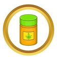 Medical marijua bottle icon vector image vector image