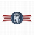 Memorial Day Sale festive Badge and Ribbon vector image vector image