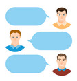 men talking people fashion couple vector image vector image