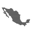 mexico map abstract schematic from black vector image vector image