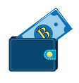 nice wallet to save bill money vector image