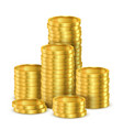 pile golden coins or heap gold money vector image vector image