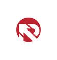 r letter arrow icon vector image