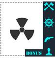 radiation icon flat vector image vector image