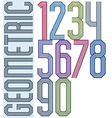 Retro colorful geometric numbers with parallel vector image vector image