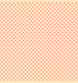 retro seamless pattern with pink hearts vector image vector image