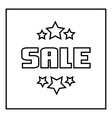 Sale emblem with stars icon outline style vector image vector image
