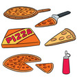 set pizza vector image