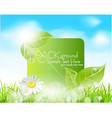 Spring leaves banner vector | Price: 1 Credit (USD $1)