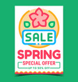 spring sale creative promotional poster vector image vector image