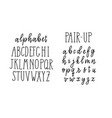 trendy alphabet lettering block capital letters vector image