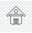 tumbleweed concept linear icon isolated on vector image