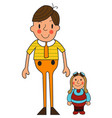 two boys of a cute little boy toy vector image vector image