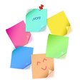 Various color paper note vector image vector image