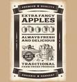 Vintage apple harvest poster vector image vector image