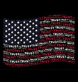 waving united states flag stylization of trust vector image vector image