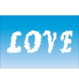 word Love on the sky vector image