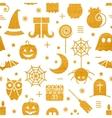 Seamless Halloween gold textured pattern vector image