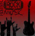 Rock music festival template vector image
