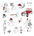 1920s retro collection vintage people and things vector image