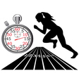 track and field vector image