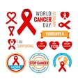 World Cancer Day elements collection vector image