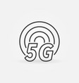 5g outline icon - fifth generation network vector image vector image