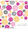 abstract textured bubbles frame corner pattern vector image vector image