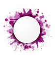 Abstract Violet Bubble With Blobs vector image vector image