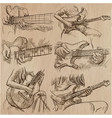 an hand drawn collection pack - guitar solo vector image vector image