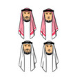 arabian men head vector image vector image
