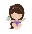 baby girl sit with a baby bottle vector image