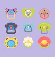 baby pacifier funny colored rubber silicone vector image
