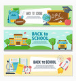 back to school banner set classroom decor vector image vector image