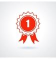 Badge With Ribbons or Award Icon vector image vector image