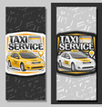 banners for taxi service vector image