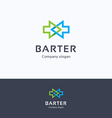 Barter arrows logo vector image