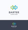 Barter arrows logo vector image vector image
