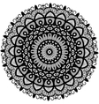 Beautiful Deco Monochrome Contour Mandala vector image vector image