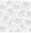 beautiful rose - rosa outline seamless background vector image
