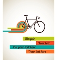 Bicycle vintage style poster vector image