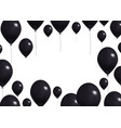 big black balloons background concept realistic vector image
