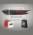 black friday sale banner of season discount vector image