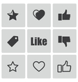 black like icons set vector image vector image