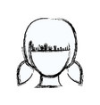 blurred silhouette faceless girl with pair vector image vector image