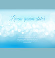 bokeh lights on sky blue background vector image vector image